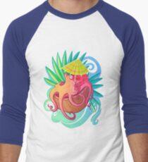Octopus on the Beach Men's Baseball ¾ T-Shirt