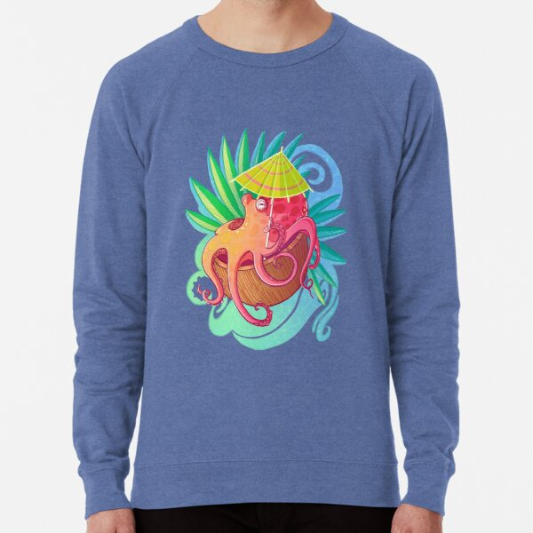 Octopus on the Beach Lightweight Sweatshirt