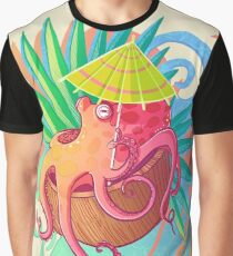 Octopus on the Beach Graphic T-Shirt