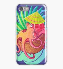 Octopus on the Beach iPhone Case/Skin