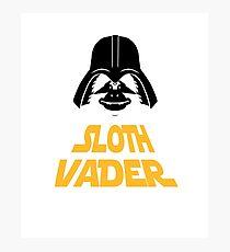 Sloth Vader Photographic Print