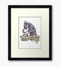 Nerd Unicorn Pride Framed Print