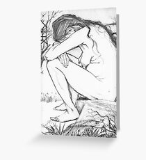 Sorrow (After Vincent Van Gogh) Greeting Card