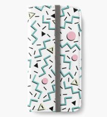 Back to the 80's eighties, funky memphis pattern design iPhone Wallet/Case/Skin