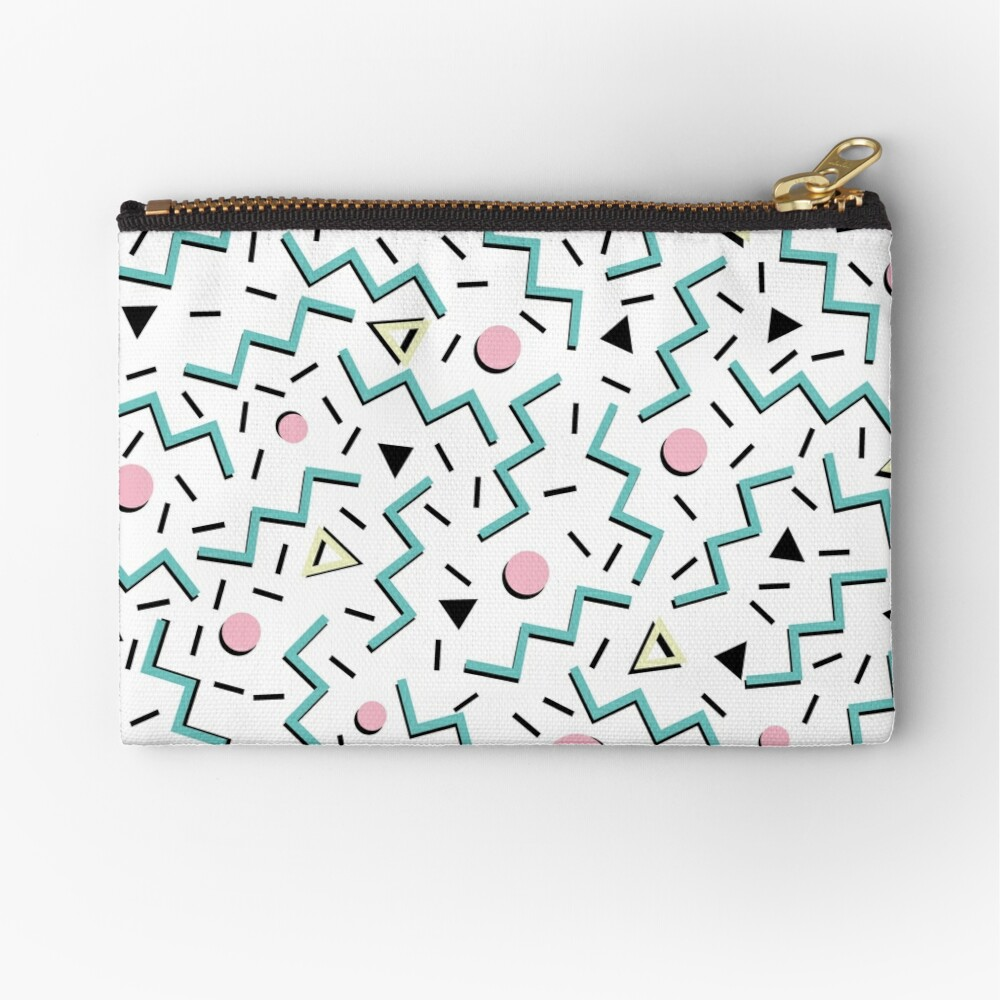 Back to the 80's eighties, funky memphis pattern design Zipper Pouch