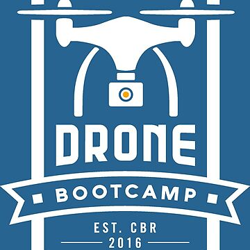 Drone Bootcamp (white on blue) by stoneyridge