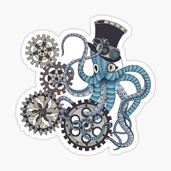 Steampunk octopus Sticker