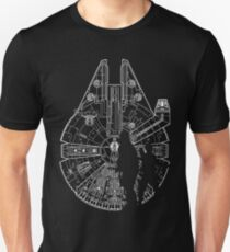The Falcon, Han Solo and Chewy  Unisex T-Shirt
