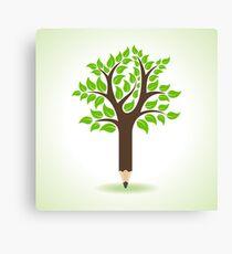 Ecology concept - Pencil make a tree  Canvas Print