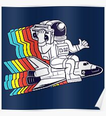 funky astronaut Poster