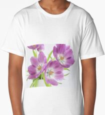 Spring fresh purple tulips Long T-Shirt