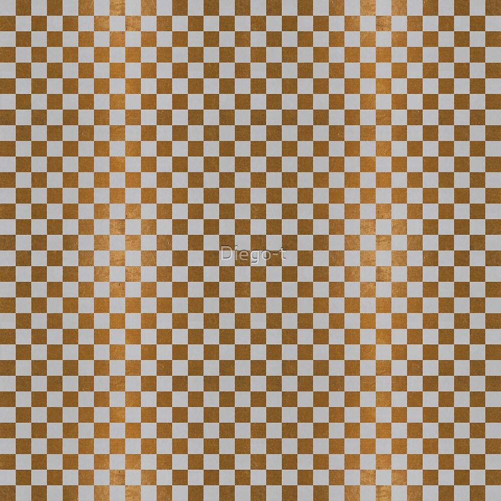 Gold Leaf and Pumiced Aluminum Checkered Board by Diego-t