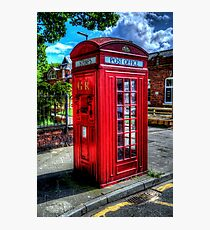 Red Telephone Kiosk Photographic Print