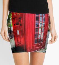Red Telephone Kiosk Mini Skirt