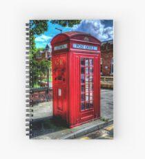 Red Telephone Kiosk Spiral Notebook