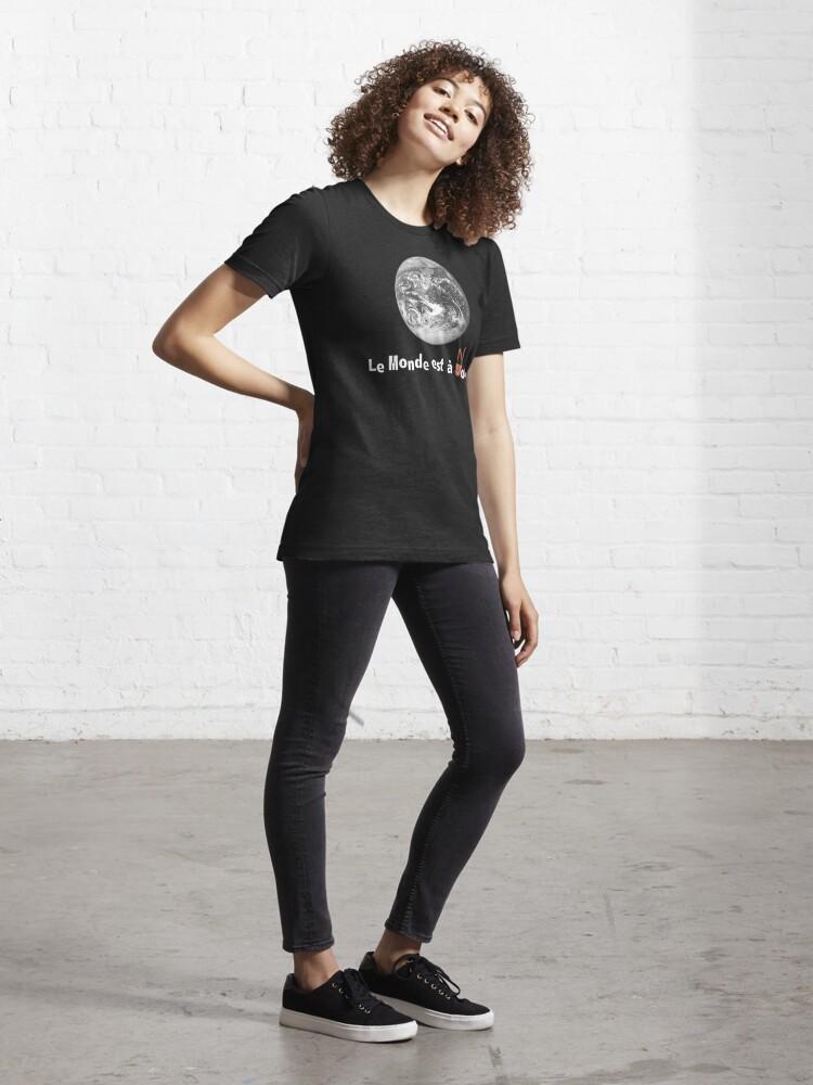 Alternate view of Le Monde Est A Nous (La Haine) Essential T-Shirt