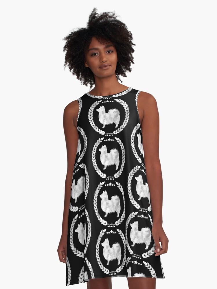 Papillon Camo White A-Line Dress Front