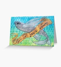 Geronimo the Fish Greeting Card