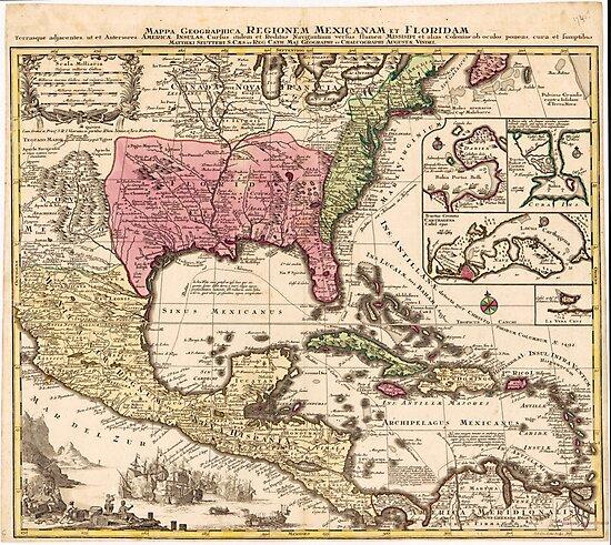 Mappa Geographica Regionem Mexicanam et Floridam (1740) by allhistory