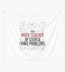 Tela decorativa Profesor de Matemáticas con Problemas
