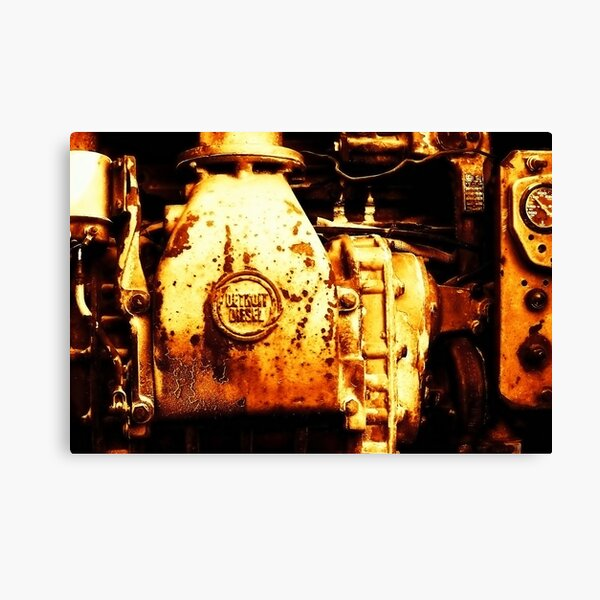 Detroit Diesel Canvas Print