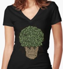 Afroot Women's Fitted V-Neck T-Shirt