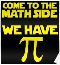 Math Side Pi Poster