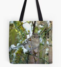 I'll Blend In And Just Be Patient! - Female Chaffinch - NZ Tote Bag