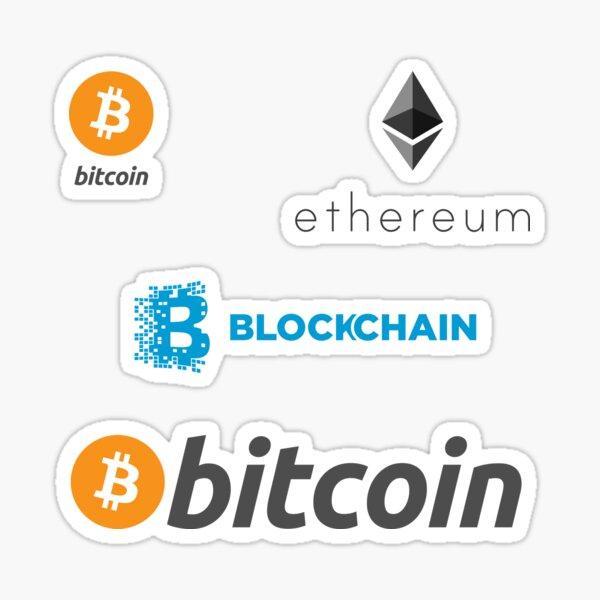 bitcoin blockchain ethereum set Sticker