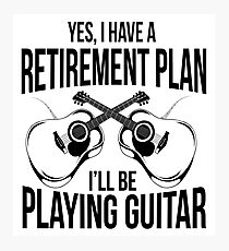 Guitar retirement Plan Photographic Print