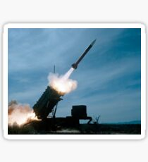 An MIM-104 Patriot missile is test fired. Sticker