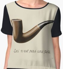 The Treachery of Images - Magritte Women's Chiffon Top