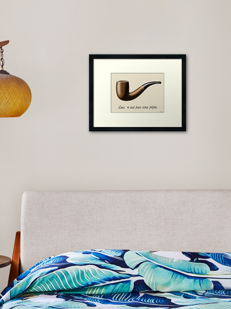 Rene Magritte Ceci n/'est pas une pomme Matted Frame /& Print
