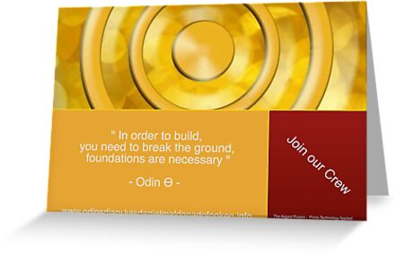 """"""" In order to build,  you need to break the ground,  foundations are necessary """"  - Odin Ѳ -  by odintheta"""