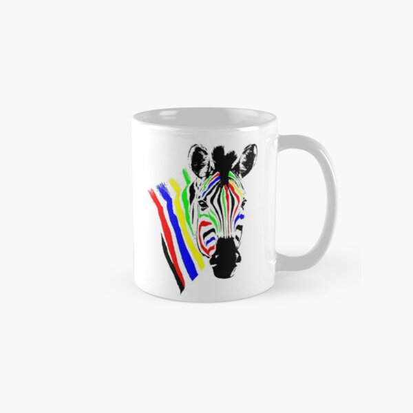 Brightly Colored Zebra | African Wildlife Classic Mug