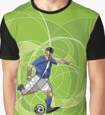 Abstract soccer or football player with ball Graphic T-Shirt