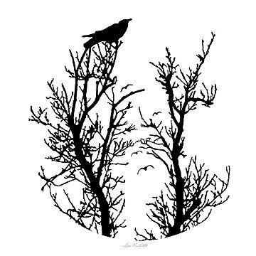 Nevermore (Black Silhouette) by louendicott