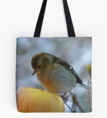 Awww!! Do I Really Have To Eat This - I Don't Need To Go On A Diet!! - Female Chaffinch Tote Bag