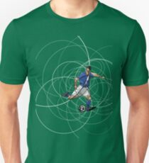 Abstract soccer or football player with ball Unisex T-Shirt