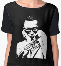Miles Davis t shirt Women's Chiffon Top