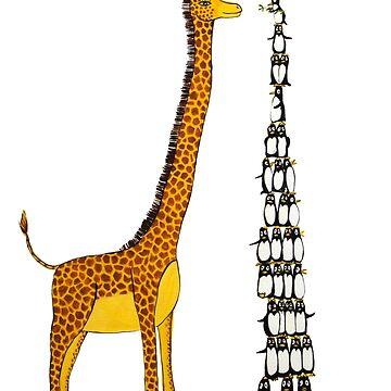Who is Taller Unicorn Giraffe or Penguin? by JeanRim