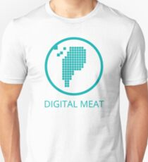 Digital Meat Logo With Text Slim Fit T-Shirt