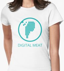 Digital Meat Logo With Text Women's Fitted T-Shirt