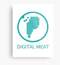 Digital Meat Logo With Text Metal Print