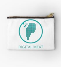 Digital Meat Logo With Text Zipper Pouch