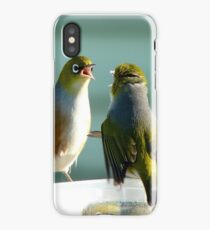 I SAID!!.. Junior's Had Enough Time-Out!!!... Wax-Eyes - NZ  iPhone Case/Skin