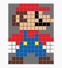Super Mario 8-Bit Sprite Modern Colors Photographic Print