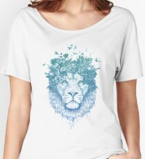 Floral lion Women's Relaxed Fit T-Shirt