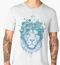 Floral lion Men's Premium T-Shirt
