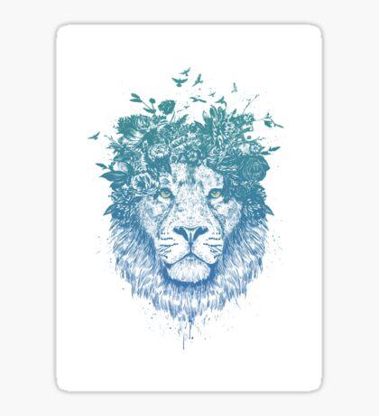 Floral lion Sticker